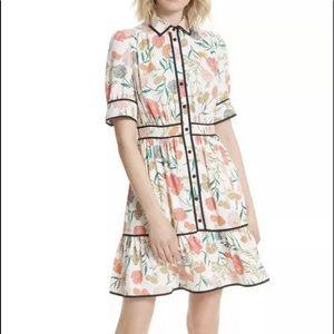 NWT Kate Spade blossom fluid shirtdress, Sz 2